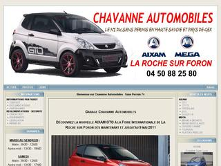 Thumbnail do site Chavanne Automobiles - Sans permis 74
