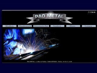 Thumbnail do site PAO METAL