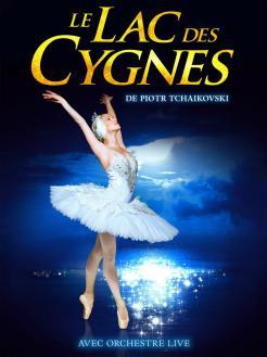 affiche Le Lac des Cygnes (St Petersbourg Ballets Russes)