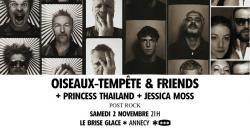 affiche Oiseaux-Tempête & friends + Princess Thailand + Jessica Moss
