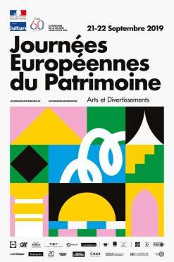 affiche Journées européennes du patrimoine 'Arts et divertissements'